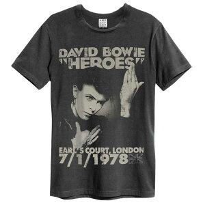 DAVID BOWIE デヴィッド・ボウイ (追悼5周年 ) - HEROES 1978 / Amplified( ブランド ) / Tシャツ / メンズ 【公式 / オフィシャル】