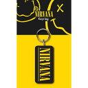 NIRVANA ニルヴァーナ (Bleach発売30周年記念 ) - Logo / ラバー・キーリング / キーホルダー 【公式 / オフィシャル】