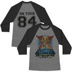 AEROSMITH エアロスミス - STADIUM TOUR 84 BASEBALL JERSEY ラグラン / バックプリントあり / 長袖 / Tシャツ / メンズ 【公式 / オフィシャル】