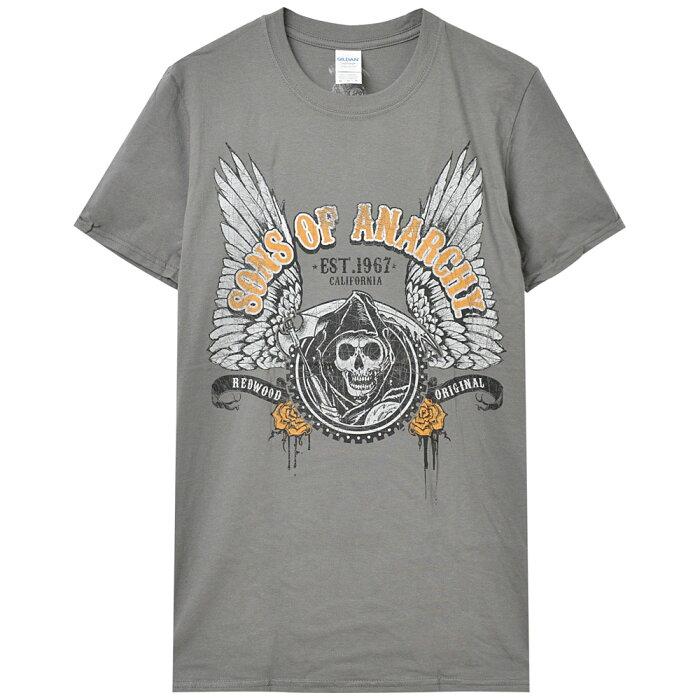 SONS OF ANARCHY サンオブアナーキー - WINGED LOGO / Tシャツ / メンズ 【公式 / オフィシャル】