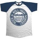 RAMONES ラモーンズ (来日40周年記念 ) - BOWERY NYC / 半袖ラグラン / Tシャツ / メンズ 【公式 / オフィシャル】