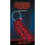 STRANGER THINGS ストレンジャー・シングス - Logo / ラバー・キーリング / キーホルダー 【公式 / オフィシャル】