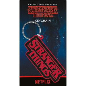 STRANGER THINGS ストレンジャー・シングス (シーズン4配信決定 ) - Logo / ラバー・キーリング / キーホルダー 【公式 / オフィシャル】