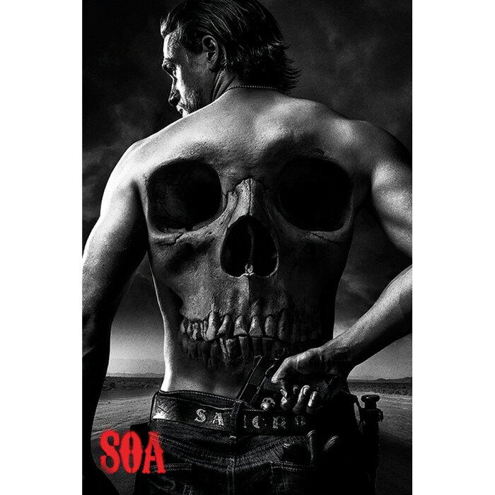 SONS OF ANARCHY サンオブアナーキー - Skull / ポスター 【公式 / オフィシャル】