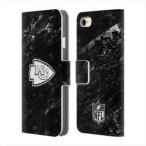 KANSAS CITY CHIEFS(NFL) カンザスシティチーフス - Marble レザー手帳型 / iPhoneケース 【公式 / オフィシャル】