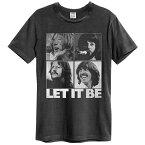 BEATLES ビートルズ (Abbey Road 50周年記念 ) - LET IT BE VINTAGE / Amplified( ブランド ) / Tシャツ / メンズ 【公式 / オフィシャル】