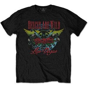 AEROSMITH エアロスミス (結成50周年記念 ) - Deuces Are Wild, Vegas / Tシャツ / メンズ 【公式 / オフィシャル】