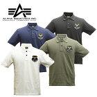 ALPHA,TC1354,ワッペン,ポロシャツ,アルファ,wappen,polo,shirts,メンズ,ミリタリー,カジュアル,半袖,鹿の子