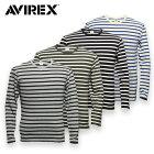 AVIREX,6143408,DAILY,ボーダー,長袖,Tシャツ