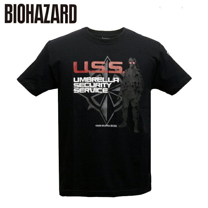 トップス, Tシャツ・カットソー BIOHAZARD U.S.S T hunk t-shirt umbrella security service resident evil