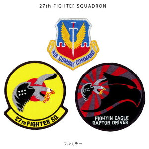 F-22 ファイティング・スコードロン パッチセット w/hook