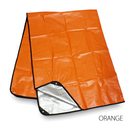 Grabber オールウェザー・ブランケットNASA開発 多目的シート 毛布 グランドシート タープ 4重構造 防水性 防風性 アウトドアシーン