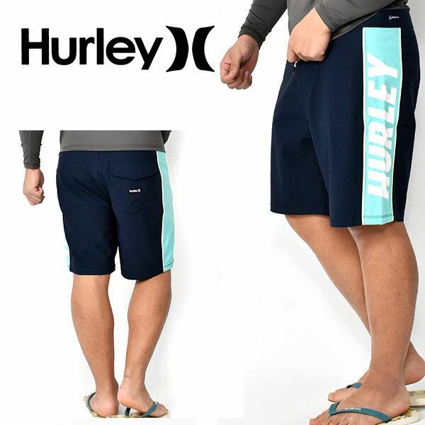 送料無料 サーフパンツ HURLEY ハーレー メンズ 水着 PHANTOM FASTLANE 18 ネイビー 紺 ロゴ ボードショーツ 海水パンツ 海パン トランクス サーフ サーフィン ボディボード プール 海水浴 野外フェス 2020春夏新作