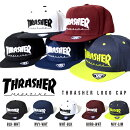 THRASHERスラッシャーキャップCAPメンズレディースロゴ刺繍キャップコットン帽子フラットバイザースナップバック20%off