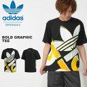 30%OFF ビッグシルエット 半袖 Tシャツ adidas ORIGINALS アディダス オリジナルス メンズ BOLD GRAPHIC TEE ビッグロゴ プリントTシャツ 2019夏新作 FUJ66