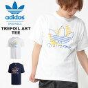 30%OFF 半袖 Tシャツ adidas ORIGINALS アディダス オリジナルス メンズ TREFOIL ART TEE ビッグロゴ プリントTシャツ 2019夏新作 FUJ67