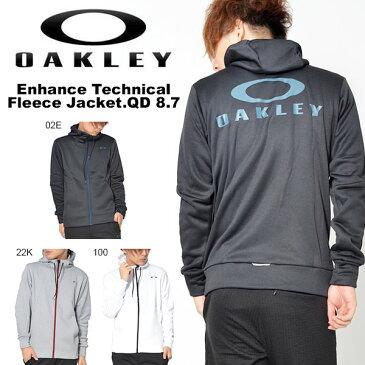 送料無料 長袖 フリース ジャケット OAKLEY オークリー Enhance Technical Fleece Jacket.QD 8.7 パーカー フルジップ バックロゴ 日本正規品 スポーツ トレーニング 2018秋冬新作 得割20