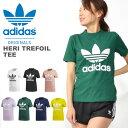 送料無料 半袖Tシャツ adidas Originals アディダス オリジナルス レディース HERI TREFOIL TEE ロゴTシャツ プリントTシャツ クルーネック トップス 2019秋新色