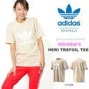 半袖Tシャツ adidas Originals アディダス オリジナルス レディース HERI TREFOIL TEE ロゴTシャツ プリントTシャツ クルーネック トップス 2018春夏新作