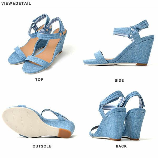 【得割30】送料無料サンダルラコステライブLACOSTEL!VEレディースKAROLY3ウェッジソールヒールデニムストラップウエッジソールヒールサンダルシューズ靴