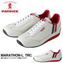 送料無料 スニーカー パトリック PATRICK メンズ レディース MARATHON-L TRC マラソン レザー トリコロール ホワイト シューズ 靴 レザーシューズ ローカットシューズ 日本製