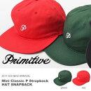 送料無料ベースボールキャップPRIMITIVEプリミティブメンズMiniClassicPStrapbackHATSNAPBACK帽子CAPロゴキャップスケボーBBキャップスナップバック2017春新作