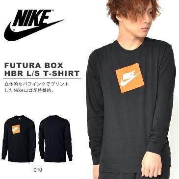 長袖 Tシャツ ナイキ NIKE メンズ フューチュラ ボックス HBR L/S TEE シャツ ロンT ロゴ スポーツウェア AJ3874 2018冬新作 10%OFF
