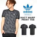 送料無料 半袖Tシャツ adidas Originals アディダス オリジナルス メンズ HACT WARP PRINT TEE 3本ライン ロゴ 総柄 サイドメッシュ ロゴ プリント シャツ ロゴTシャツ プリントTシャツ 2018春夏新作