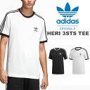 30%OFF 半袖Tシャツ adidas Originals アディダス オリジナルス メンズ HERI 3STS TEE 3本線 3ストライプス ロゴTシャツ ロゴT クルーネックTシャツ 3本ライン 2019夏新作