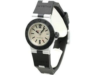 ブルガリBVLGARIアルミニウムAL29Aラバーレディースクォーツ/34071【】腕時計カード分割