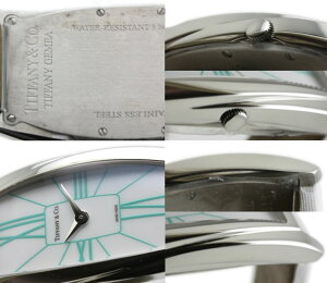 ティファニーTIFFANYジェメアラージサテンレザーレディースZ6401Gemea/34097【】腕時計カード分割
