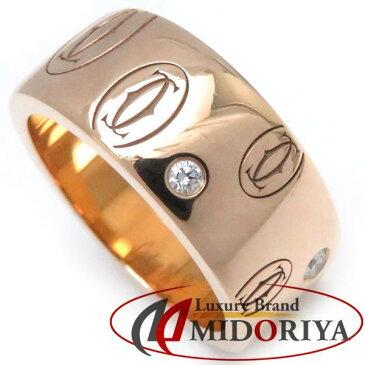 カルティエ Cartier ハッピーバースデー LM リング ダイヤモンド5P 750PG #50 10号 B4070300 指輪/098606【中古】