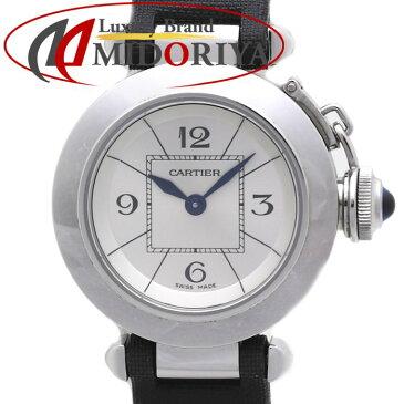 【最大5千円OFFクーポン】CARTIER カルティエ ミス パシャ W3140025 レディース ブラックサテン /35805【中古】 腕時計