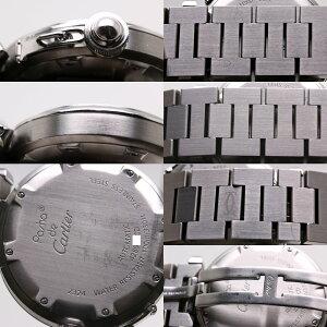 CARTIERカルティエW31043M7パシャCボーイズユニセックス自動巻きブラック/36155【中古】腕時計