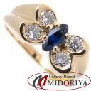 ヴァンクリーフ&アーペル セリア リング MMサイズ サファイヤ0.59ct ダイヤモンド K18YG イエローゴールド /091504 【中古】