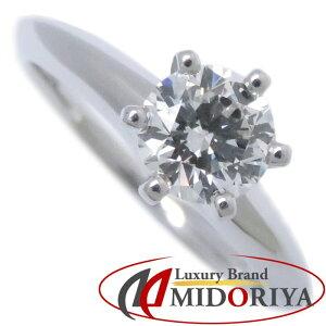 蒂芙尼TIFFANY&Co。单钻戒指单石钻石0.60ct Pt950 6号铂金戒指/ 092675 [二手]