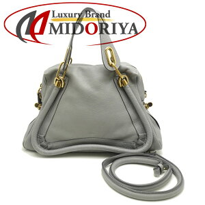 [Fashion The SALE Limited Price] Chloe Chloe Paraty 2WAY Bag Leather Gray/055490 [Used]