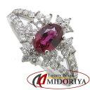 リング Pt900 ルビー0.666ct ダイヤモンド0.50ct 12号 プラチナ 指輪 レディース ジュエリー /63984 【中古】