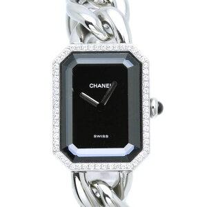 シャネルCHANELプルミエールH0495ダイヤベゼルステンレスレディースクォーツ/33761【】腕時計