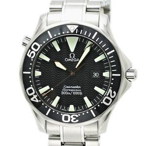 オメガOMEGAシーマスタープロダイバー300クォーツSSブラック2264.50メンズ/33889【】腕時計
