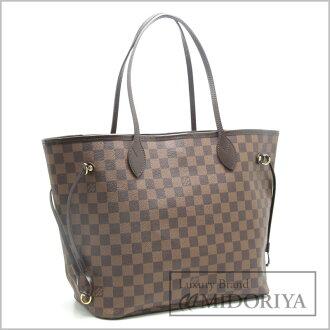 Louis Vuitton Vuitton Totes Damier neverfull MM N41358/18614 even Brown Louis-Vuitton LOUIS VUITTON Vitoria bag shoulder