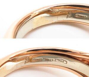 ガラベリリングGARAVELLIアメシストリング750PGアメジストホワイトシェルダイヤモンド15号18金ピンクゴールド指輪/94996【】