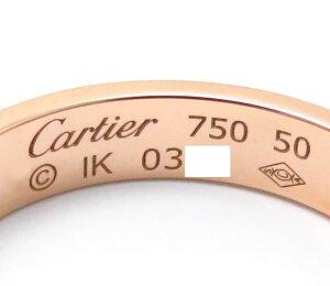 カルティエリングCARTIERミニラブリング750PG刻印5010号18金ピンクゴールド指輪/95359【】