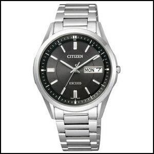 AT6030-51ECITIZENシチズンEXCEEDエクシードメンズ腕時計ソーラー電波時計エコドライブ耐ニッケルアレルギー国内正規品