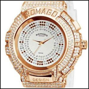 ロマゴデザイントレンドシリーズスイスメンズレディース腕時計RM025-0256PL-RGWH