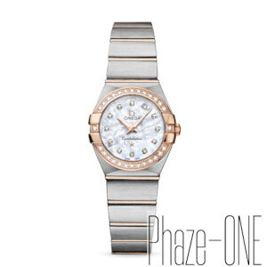 Brand New Same Day Shipment Omega Constellation Brush Diamond Quartz Ladies Watch 123.25.24.60.55.001