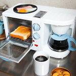 ブレックファーストメーカー(トーストコーヒー目玉焼き)1台3役モーニングセット