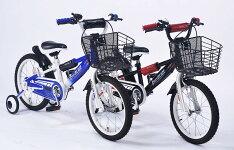子供用自転車16インチ男の子用クロスバイク形状補助輪付MD-10(代引き不可)2色展開