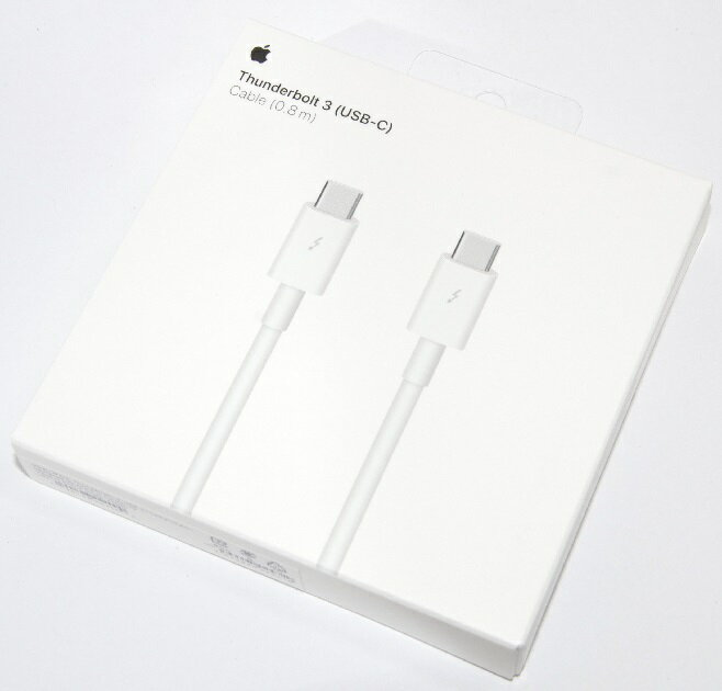 アップル純正 Apple Thunderbolt 3(USB-C)ケーブル(0.8 m) MQ4H2FE/A 国内純正品画像
