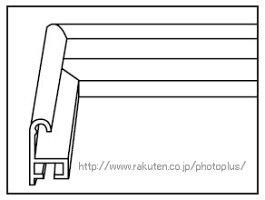 20%OFFアルミ額縁アクリル仕様サイズキャビネ(2L)A105A壁掛けスタンド付フジカラーフォトフレーム127×178軽量割れにくいA-105A